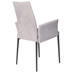 Vega Contemporary Armchair, Nubuck and Graphite