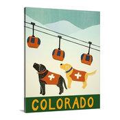 "Colorado Ski Patrol Wrapped Canvas Art Print, 24""x30""x1.5"""