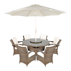 Arizona Ultra Stylish Rattan 6-Seat Round Dining Set, 135cm