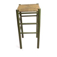 Calabash Wood Barstool 330W Olive