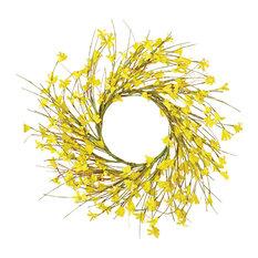 """Forsythia Wreath, 16"""""""