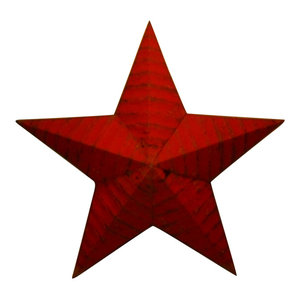 Rustic Genuine Amish Quality Primitive 42 INCH Barn Star USA Made NATURAL RUST