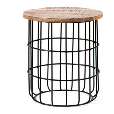 Madeleine Home - Auxon Designer Cage Side Table - Side Tables and End Tables