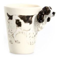 English Springer Spaniel 3D Ceramic Mug, White and Black