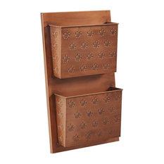 2-Slot Iron Wall Mailbox