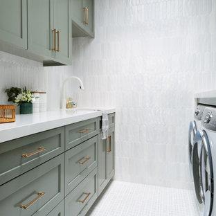 Inspiration för maritima tvättstugor