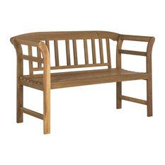 2-Seater Porterville Outdoor Bench in Teak Finish
