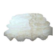 Plush Faux Fur 8 Pelt Sheepskin Accent Rug, 5'x7'