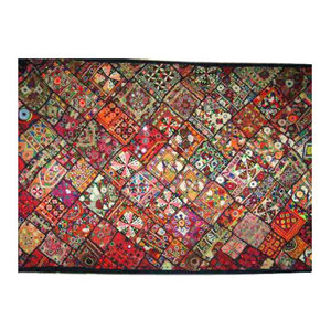 Mogul Interior - Consigned Banjara Wall Hanging Tapestry Throw Kutch Embroidery - Tapestries