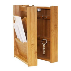 Letter Rack with Key Box, Bamboo