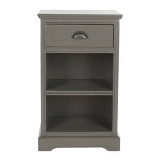 Safavieh Griffin 1-Drawer Side Table, Gray