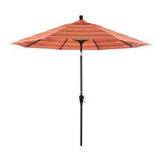 9' Bronze Auto-Tilt Crank Aluminum Umbrella, Dolce Mango Sunbrella