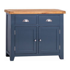 Padstow Blue Painted Oak Small Sideboard