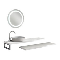 Clever 5-Piece Bathroom Vanity Set, White, 160 cm