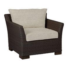 Summer Classics Club Woven Lounge Chair, Linen Dove Cushion