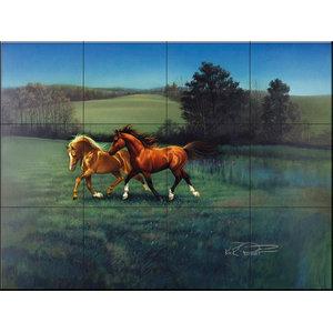 Tile Mural, September Afternoon - KR, 60.8x45.6 cm