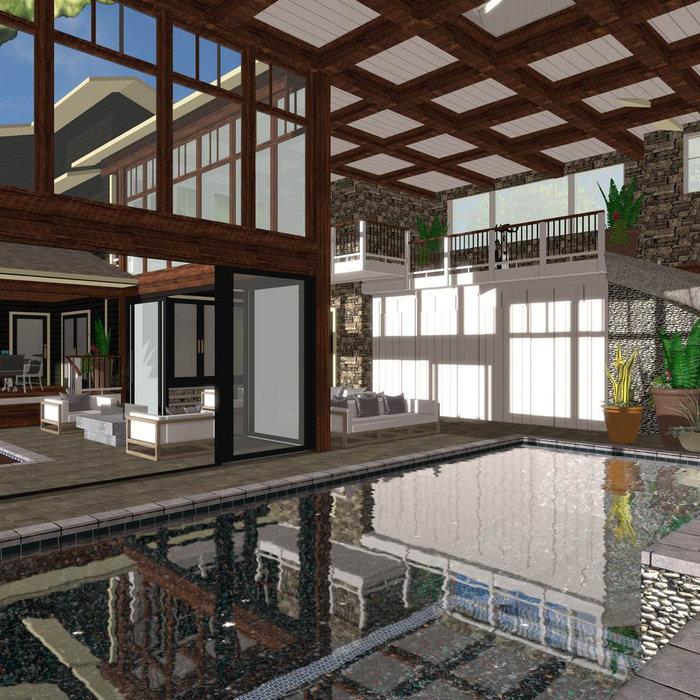 Rendering - Pool Room