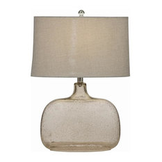 Seeded Glass Table Lamp, Clear   Table Lamps