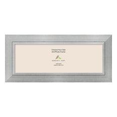Amanti Art Photo Frame Romano Silver Opening Size 12 X 36