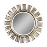 Classic And Contemporary Inspired Uttermost Cyrus Round Silver Mirror Home  Decor