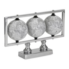 Modern Style Gomez White Globes Living Room Home Accent Decor