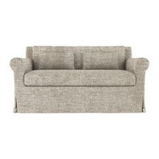 Ludlow 5' Crushed Velvet Sofa Oyster Classic Depth