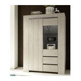 Palmira 2 door 2 drawer display unit