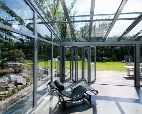 Moderner wintergarten bilder ideen houzz - Wintergarten ideen ...