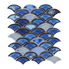 Scale Royal Dragon Scale Royal Blue 9.75x12 Mosaic