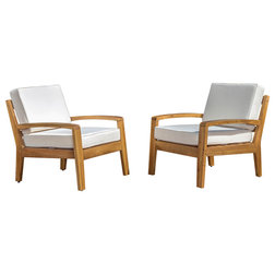 Craftsman Outdoor Lounge Chairs by GDFStudio