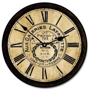 "Galleria Layayette Clock, Tan, 24"""