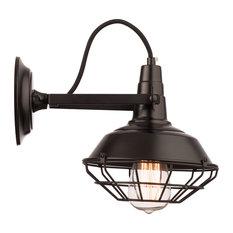 Barbados Wall Lamp, Black