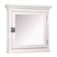 Elegant Home Fashions Madison 1-Door Medicine Cabinet, White