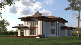 Индивидуальный жилой дом в стиле Френка Ллойда Райта