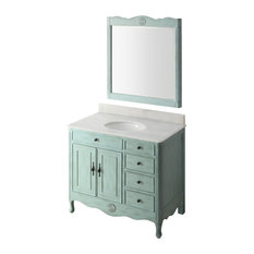 blue bathroom vanity. Chans Furniture  38 Distressed Light blue Daleville Bathroom Vanity Add Mirror No Faucet Blue Vanities Houzz