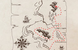 Pirate Treasure Map Removable Wall Decal by Nothin' but Vinyl