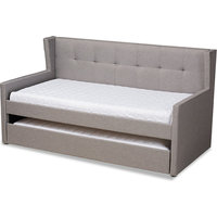 Giorgia Daybed With Trundle, Gray, Twin