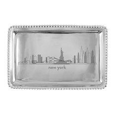 NEW YORK Cityscape Beaded Tray