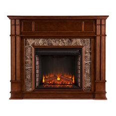 Aragon Faux Stone Electric Media Fireplace
