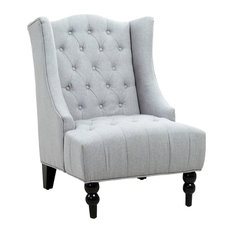 gdfstudio clarice wingback chair silver armchairs and accent chairs. beautiful ideas. Home Design Ideas