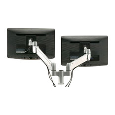 Two Horizontal Flat Screen Monitor Arms