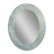 "Reeded Sea Glass Mirror, 23""x29"""