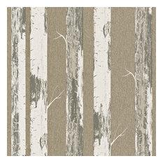 Metallic Paper Birch Wallpaper, Gold, Double Roll