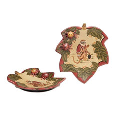 Pair of 9 Inch Diameter Monkey Decorative Plates