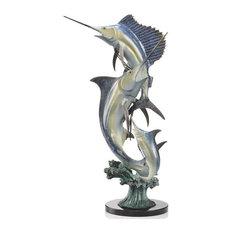 Marlin and Sailfish Imperial Slam Sculpture