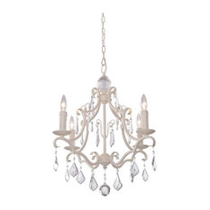 Artcraft Lighting Vintage 4 Light Chandelier, Antique White