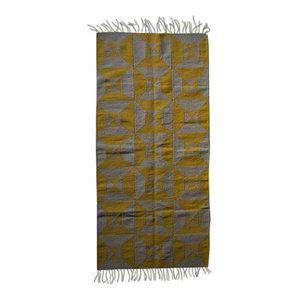Grey Yellow Arrows Kilim Rug, 70x150 cm, 200x300 Cm