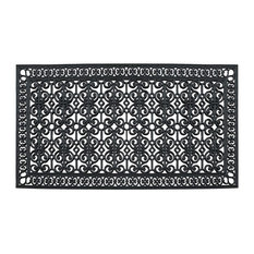 "First Impression Rubber Paisley, Hand Finished,Thick, 36""x72"", Black"