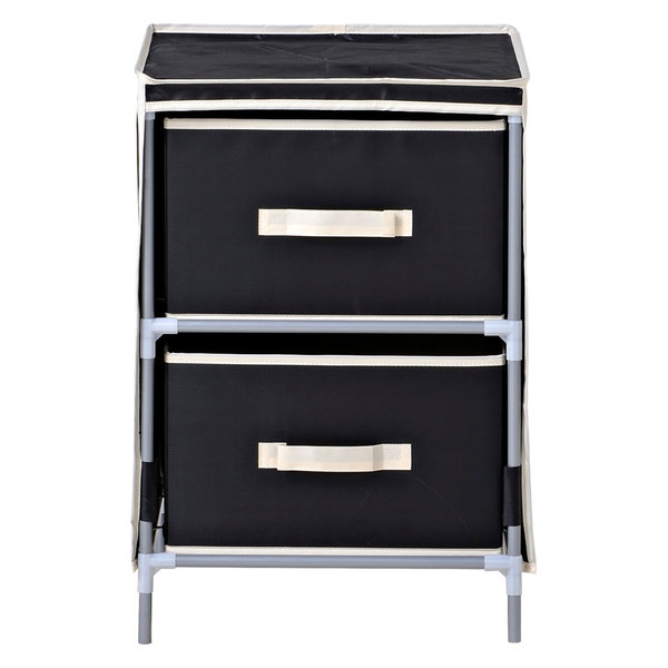 Homestar Drawer Fabric Storage Chest, Black