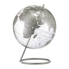 "Crystal Marquise, 12"" Silver Desk Globe"